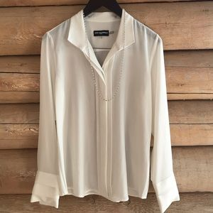 NWT Karl Lagerfeld Blouse with Necklace